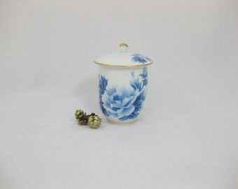 Covered Tea Cup, Japanese Porcelain Tea Cup