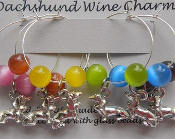 Exclusive Dachshund Wine Charms