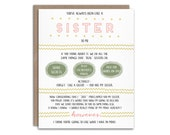 Best Friend Pregnancy Reveal Card for Best Friend // Like a Sister // You've Always Been Like a Sister To Me