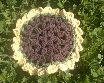 May Flowers Dishcloth