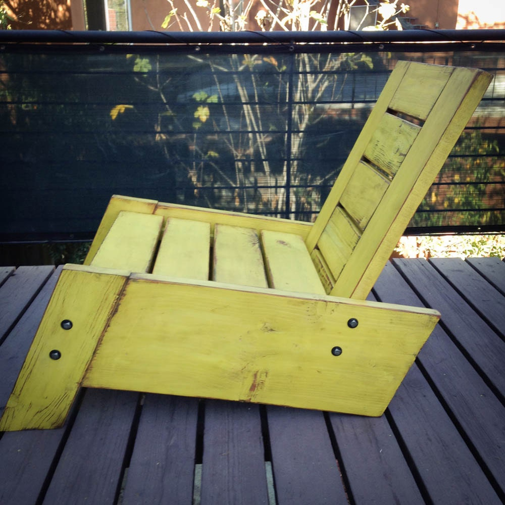 So rafael modernvintage reclaimed wood deck chair zoom baanklon Gallery