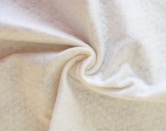White Acrylic Felt, Manmade Felt, Craft Supply, White unwoven Fabric