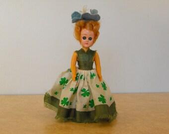 "Vintage 6"" St. Patricks Doll"