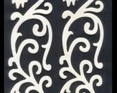 Beautiful Chipboard Diecut Pattern - Border, Scrapbooking, Collage, Altered Book
