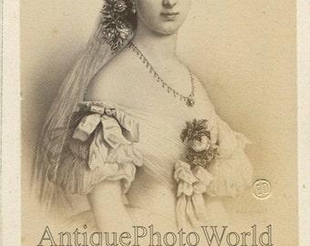 Alexandra Princess of Wales antique royalty CDV photo