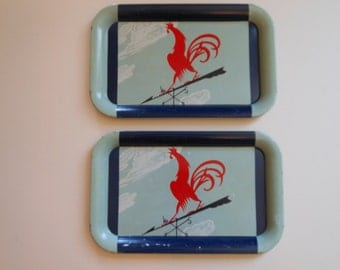 Retro Rooster Weather Vane trays-2