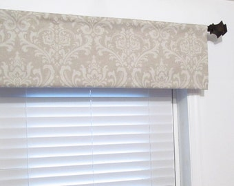 NEW!!! Made to Order Blend Cloud Oatmeal Traditions Curtain Valance Soft Cornice Window Treatments