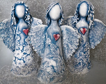 "Art dolls Sculpture ""Vera, Nadezda, Lyubov"""
