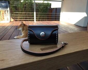 Leather Dog Poop Bag Dispenser - Custom colored