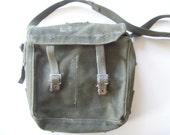 Vintage Military Army Messenger  Bag