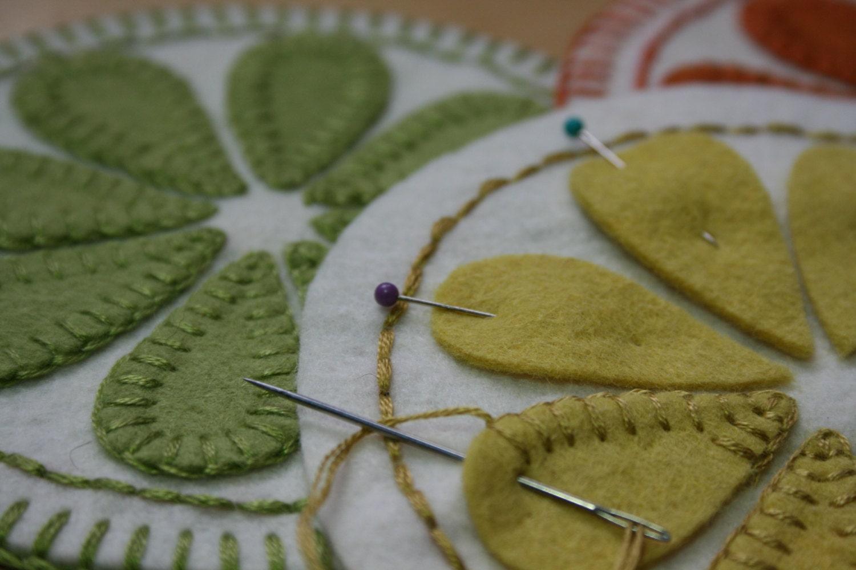 Summer delight penny rug pattern drink coasters juice jug