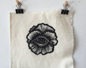All Seeing Flower Linocut Patch