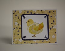 Greeting Card  / wall art - Iris Folding - Little chicken