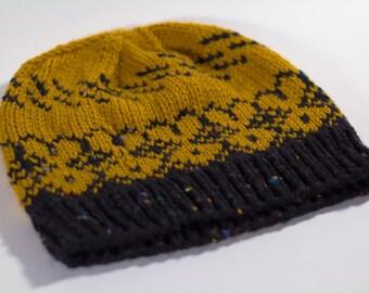 Mustard & Tweed Handknit Beanie