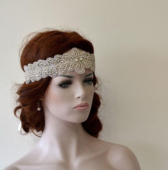 Wedding Hair With Rhinestone Headband : Bridal rhinestone headband hair accessories wedding