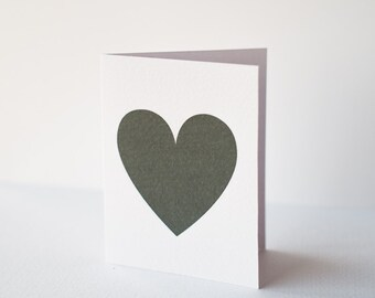 Gift jewelry card with black heart