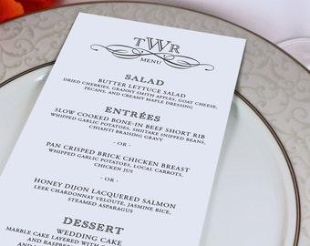 Wedding Reception Menu And Thank You Card By GrandDesignStudio