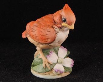 "Vintage bird figurine ""Cardinal"" by Andrea"