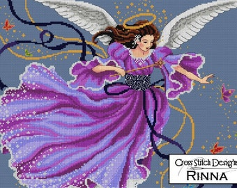 Wings of Spring Evening - Angel Design in Cross Stitch PDF