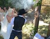 Wedding BRANDING Iron w/ walnut round - The Heritage Forge