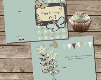 Instant Download & Print Birthday Card
