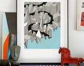 The End. Illustration art giclée print signed by artist Pawel Jonca. A2 poster.