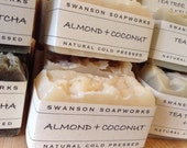 Almond + Coconut, All Natural Soap, Handcrafted Soap Bars
