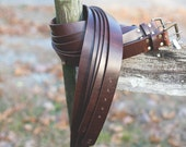 "Men's Leather Belt 1-1/2"" wide.  Chromexel Brown Horween Leather"