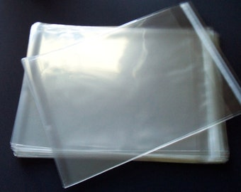 100 8 1/4 x 10 1/8 Inch Resealable Cello Plastic Bags Sleeves Crystal Clear (8x10) Photo Art  Packaging