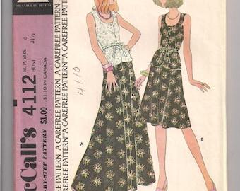 Vintage McCalls 4112 size 8 1974