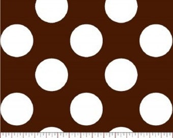 Super Dot --- Brown Polka Dot Fabric ----100 Percent Cotton --- Fabric By The Yard