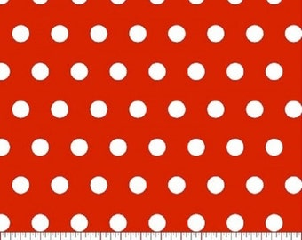 Tiny Dot --- Red Polka Dot Fabric ----100 Percent Cotton --- Fabric By The Yard