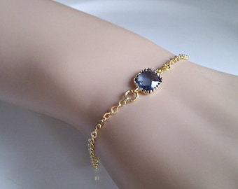 Jewel Bracelet, September Birthstone Bracelet, Bridesmaid Gifts, Bridesmaid Bracelet, UK Seller, Gifts for Girls, Blue Wedding Jewellery