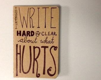 mini: hemingway on writing