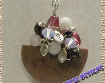 Rhodonite Flowers Pendant