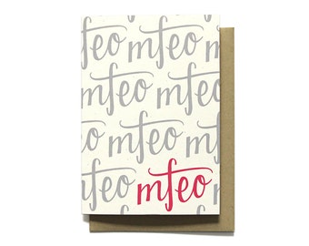 MFEO - Made For Each Other - Love Card - Anniversary Card - I Love You - Valentines Day Card