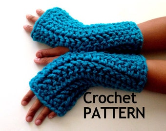 Instant Download PATTERN ONLY. Crochet Fingerless Gloves Pattern/ How to Crochet Fingerless Gloves