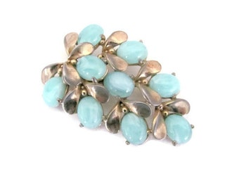Vintage Cluster Brooch, 1960's Light Blue Cluster Brooch, Pin, 1960s Brooch, Jewelry