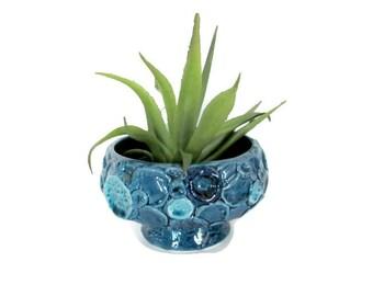 Vintage Blue Planter, 1960s Napcoware Planter, Ceramic Blue Planter, Mod Planter, Succulent Planter, 1960s Pottery, Mid Century Modern Decor