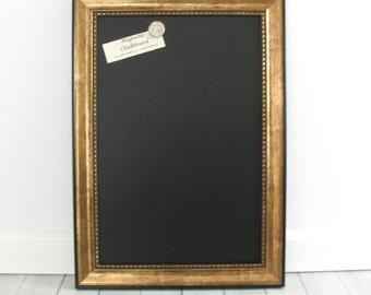 Large MAGNETIC CHALKBOARD FRAMED Wedding Kitchen Blackboard Photo Memo Note Antique Gold Black Frame Restaurant Chalk Board Markers Magnet