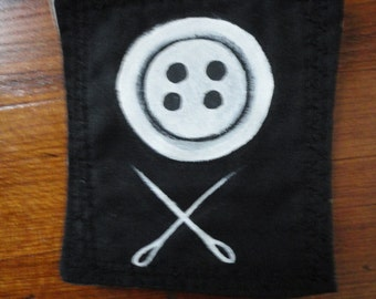 Button and Cross Needles Patch