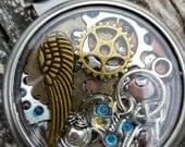Steampunk Pocket Watch Pendant. Pocket watch Pendant. Cogs and Gears and things Pocket watch Pendant.