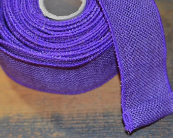 purple wired burlap ribbon