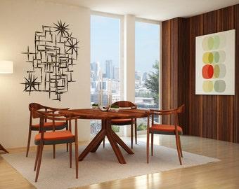 Fontane Dining Table  - Solid Reclaimed Teak Wood - Mid Century Modern