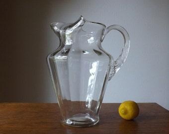 Glass Lemonade Pitcher ~ Iced Tea Pitcher  ~ 96oz. ~ Barware ~ Water Pitcher