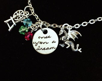 Script Once Upon a Dream Charm Necklace