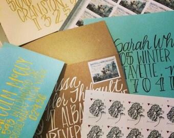 Envelope Addressing: Custom Hand Lettered Envelopes, Belle Style