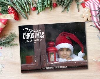 Christmas Photo Card - PRINTABLE - Holiday Photo Card