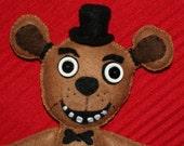 """Custom Order - Freddy Fazbear StitchUps Doll - 10"""""""