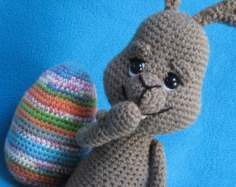 Amigurumi Easter Bunny And Easter Egg Crochet Pattern PDF Animal Hare Rabbit
